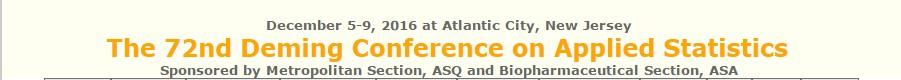 72e congrès annuel Deming sur la statistique appliquée