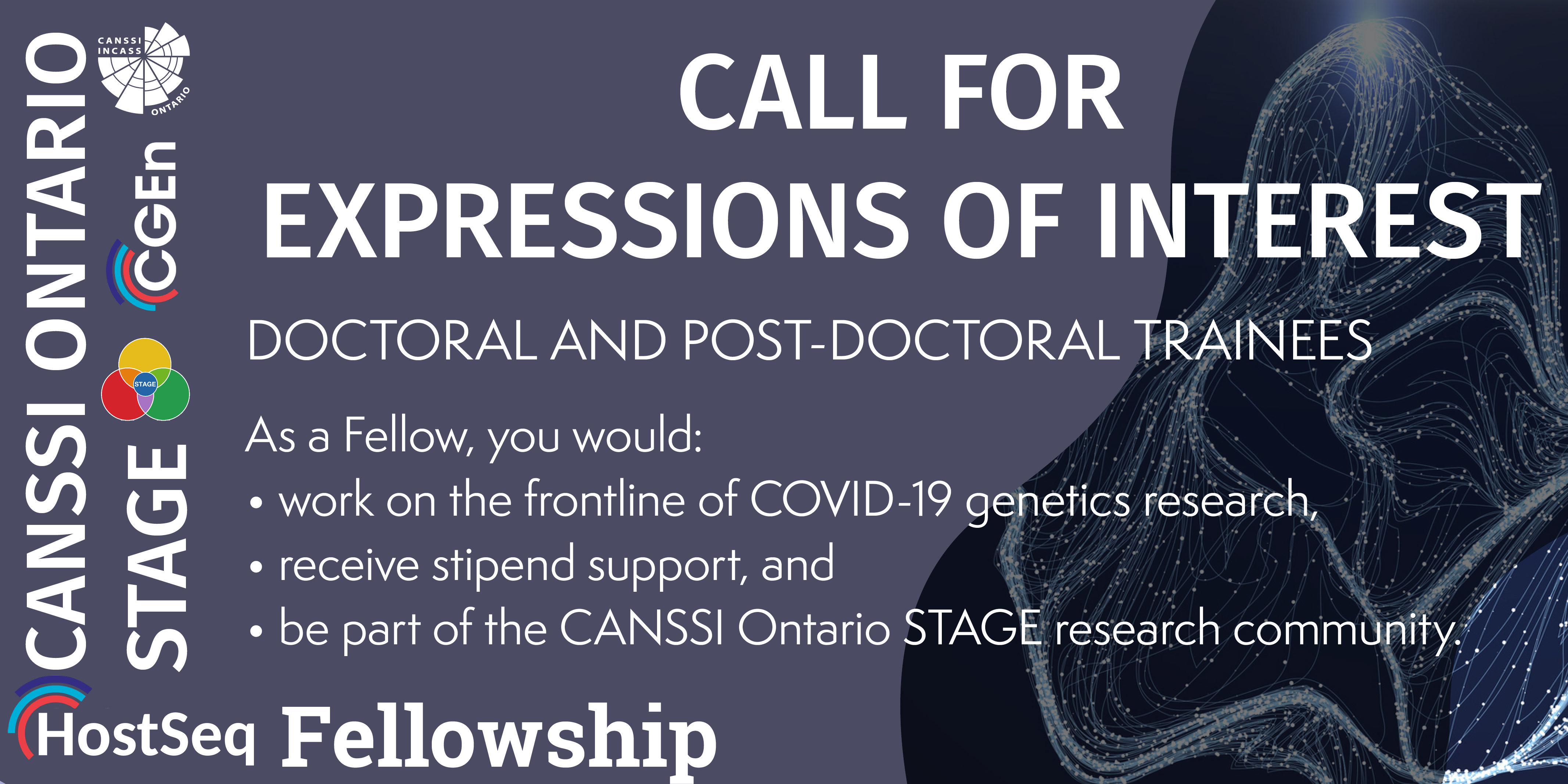 Call for Expressions of Interest   CANSSI Ontario STAGE HostSeq Fellowship