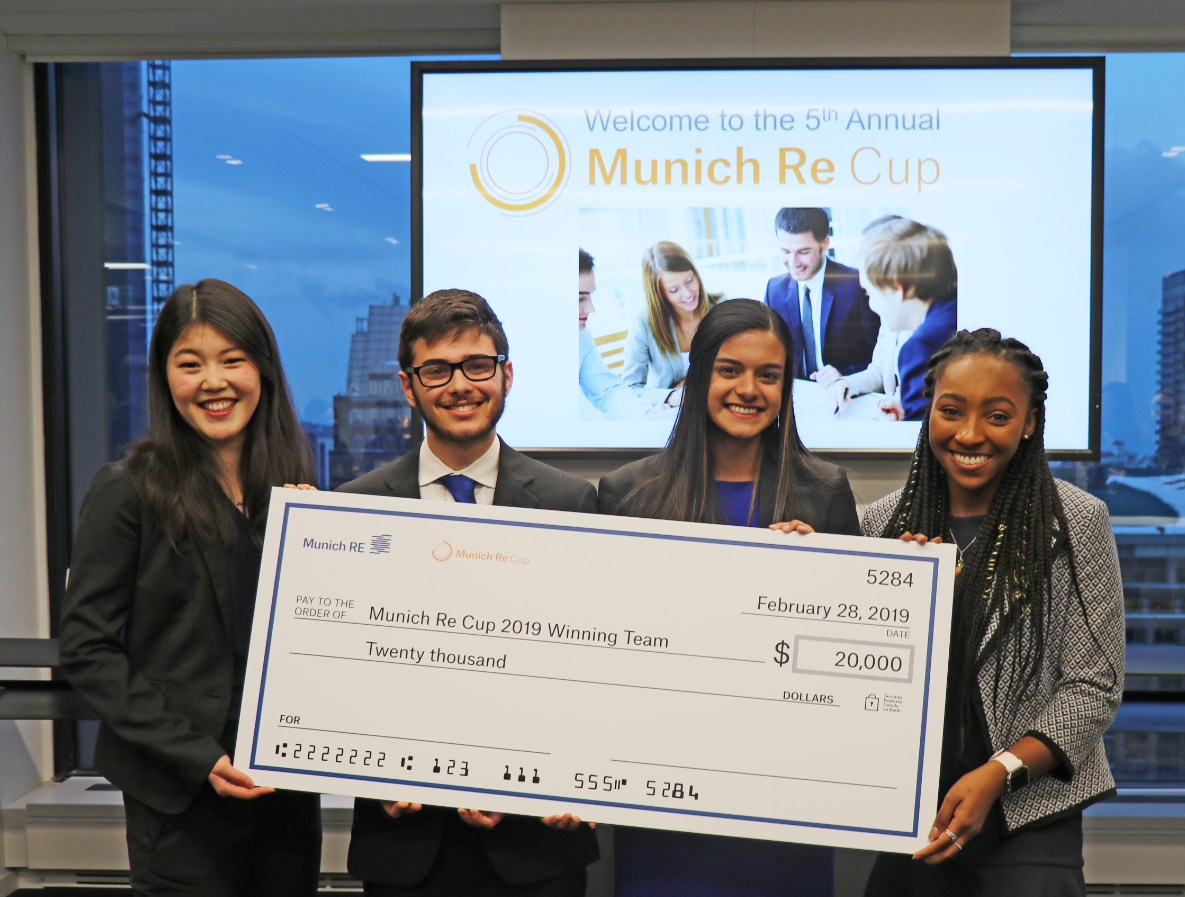 University of Waterloo Team Wins Munich Re Cup!