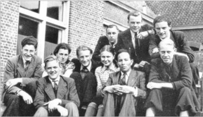 Last year of high school, 1943-33, with the physics-chemistry teacher.