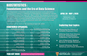 Biostatistics Conference April 30th and May 1st.