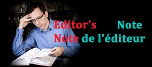 Note du rédacteur-en-chef